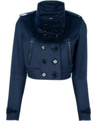 Burberry Cropped Trench Jacket - Lyst