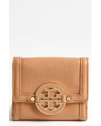 Tory Burch Amanda Double Flap French Wallet - Lyst