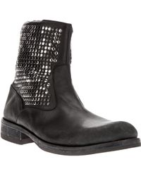 HTC | Studded Biker Boot | Lyst