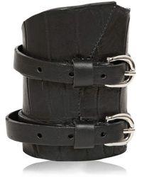 Balmain - Crocodile Calfskin Buckle Bracelet - Lyst