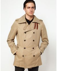 Diesel Trench Coat Double Breasted Javelins - Lyst