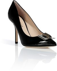 Emilio Pucci Black Patent Leather Pumps - Lyst