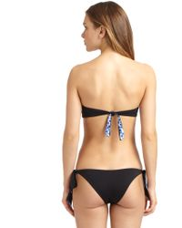 Just Cavalli Bandeau Bikini - Lyst