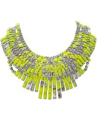 Tom Binns Splash Out Neon Massai Necklace - Lyst