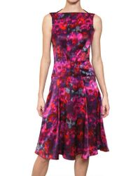Erdem Printed Silk Satin Dress - Lyst