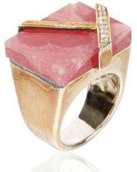 Kara Ross - Square Gemstone Geometric Ring - Lyst