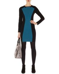 Karen Millen Color Block Knit Dress - Lyst
