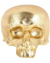 Natalia Brilli - Leather Skull Cuff Bracelet - Lyst