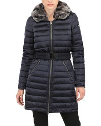 Peuterey - Nylon Down Jacket with Fur Collar - Lyst