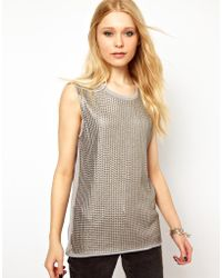 River Island Sequin Tank Top - Lyst