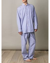 Turnbull & Asser - Striped Pyjama Set - Lyst