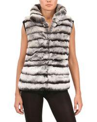 Vicedomini - Rex Rabbit and Cashmere Knit Fur Coat - Lyst