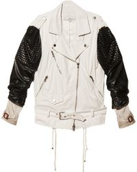 3.1 Phillip Lim Trifecta Studded Biker Jacket - Lyst