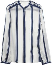 Chloé Striped Silk-Chiffon Shirt - Lyst