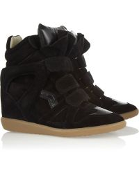 Isabel Marant The Bekett Suede Wedge Sneakers - Lyst