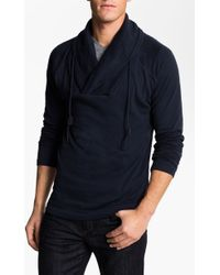 J.c. Rags Cowl Neck Jersey Cotton Pullover - Lyst