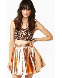 Nasty Gal Metallic Skirt - Lyst