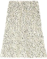 Nina Ricci Sequined Tweed Skirt - Lyst