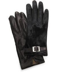 Rachel Zoe - Haircalf Gloves with Signature Buckle - Lyst
