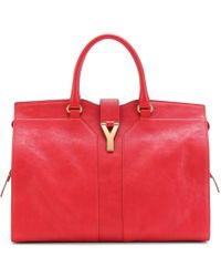 Saint Laurent - Large Cabas Chyc Leather Tote - Lyst