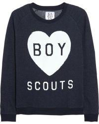 Zoe Karssen Boy Scouts Cottonblend Terry Sweatshirt - Lyst