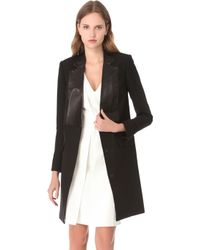 Alexander Wang Leather Bib Jacket - Lyst