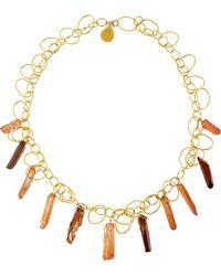 Devon Leigh Crystal Quartz Link Necklace - Lyst