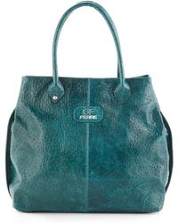 Gianfranco Ferré - Medium Ostrich Embossed Leather Tote Bag - Lyst