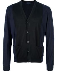 Lanvin Bi Color Cardigan - Lyst