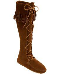 Minnetonka Lace-Up Boot - Lyst