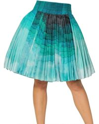 Felicity Brown Multi Layer Silk Batik Pleated Skirt - Lyst