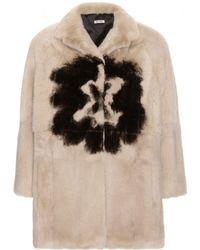 Miu Miu Mink Jacket - Lyst