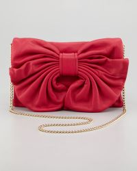 RED Valentino Bow Clutch Shoulder Bag Cherry - Lyst