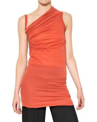 Rick Owens Double Viscose Cotton Jersey Tank Top - Lyst