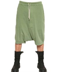 Rick Owens Light Cotton Jersey Low Crotch Shorts - Lyst