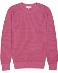 Reiss Jenga Textured Crew Neck Jumper - Lyst