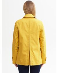 Banana Republic Yellow Mac Jacket - Lyst