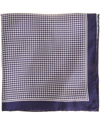 Barneys New York Houndstooth Pocket Square - Lyst