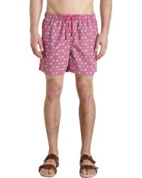 Etro Jacquard Swim Trunks - Lyst