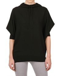 Donna Karan New York Hooded Light Weight Cashmere Knit Top - Lyst