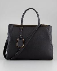 Fendi 2Jours Vitello Elite Shopping Bag - Lyst