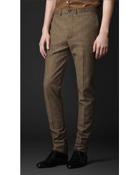 Burberry Prorsum Slim Fit Tweed Trousers - Lyst
