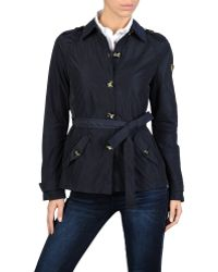 Armani Jeans Short Trench Coat in Iridescent Taffeta - Lyst