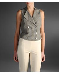 Emporio Armani Doublebreasted Prince Of Wales Vest - Lyst