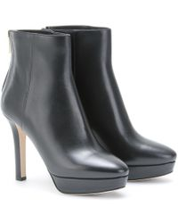 Jimmy Choo Might Nappa Leather Platform Ankle Boots - Lyst