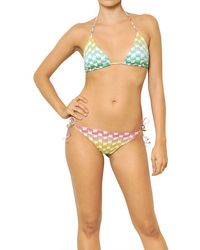 Missoni Reversible Lurex Viscose Knit Bikini - Lyst