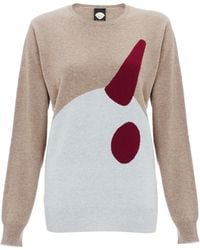 Mother Of Pearl Stone Bird Print Cashmere Jumper - Lyst