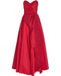 Notte by Marchesa Strapless Full Skirt Gown - Lyst