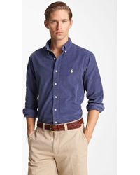 Polo Ralph Lauren Custom Fit Corduroy Sport Shirt - Lyst