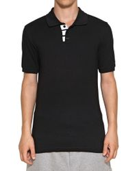 Y-3 Cotton Piquet Polo - Lyst